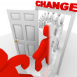 Stepping Through Change Doorway — Stock Photo #4440516