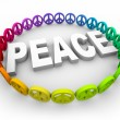 Peace Symbols Around the Word - Stock Photo
