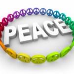 Peace Symbols Around the Word — Stock Photo