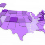 уровни образования, государственные - карта — Стоковое фото