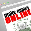 Make Money Online - Web Screen — Stock Photo