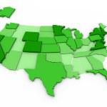 Per Capita Income - United States Map — Stock Photo