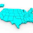 United States Map - 3d Render Illusration — Stock Photo #4441003