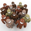 Diverse Group of - Smiling Faces - Stock Photo