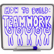 How to Build Teamwork - Dry Erase Board — Stock Photo