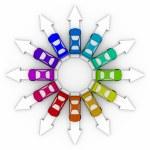矢印 - 上の車比較ショッピング — ストック写真