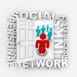 Doorway to Social Networking - Stock Photo