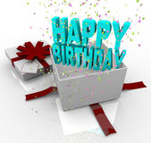 Present - Happy Birthday Gift Box — Stock Photo