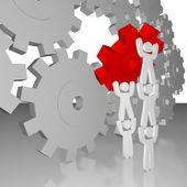 Completing the Job - Teamwork — Stock Photo