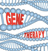 Thérapie génique - mots dans l'Adn — Photo