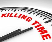 Matando el tiempo - reloj — Foto de Stock