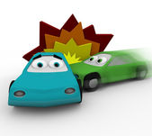 Crash - Two Cars in Accident — Stock Photo