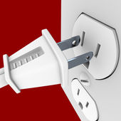 Power Plug and Outlet — Fotografia Stock
