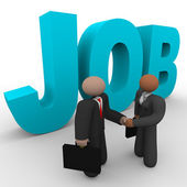 Job - Business Handshake — Stock Photo