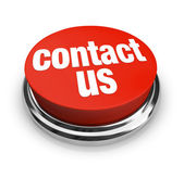 Contact Us - Red Button — Stockfoto