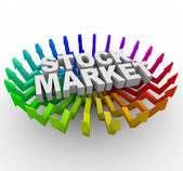 Stock Market - Arrows Rising — Stock Photo