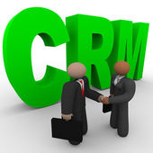 CRM - Business Handshake — Stock Photo