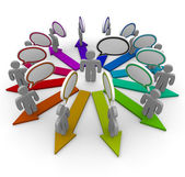 Spreading the Word - and Arrows — Stock Photo