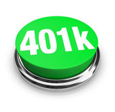 401k - Green Button — Stock Photo