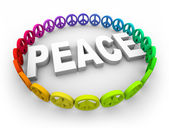 Peace Symbols Around the Word — Stock Photo