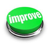 Improve - Green Button — Stock Photo