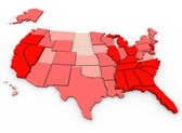 Unemployment Rates - United States Map — Stock Photo