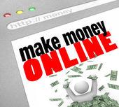 Make Money Online - Web Screen — Stock Photo