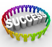 Succeed - Surrounding Word — Stock Photo