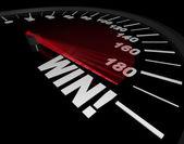 Speedometer - Needle Points to Win — Stock Photo