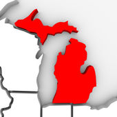 Michigan Sate Map — Stock Photo