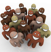 Diverse Group of - Smiling Faces — Stock Photo