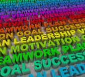 Principles of Success - Colorful Words — Stock Photo