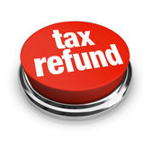 Tax Refund - Red Button — Stock Photo