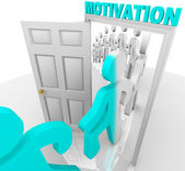 Stepping Through the Motivation Doorway — Stock Photo