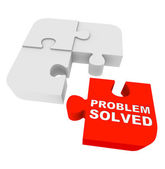 Puzzle Pieces - Problem Solved — Stockfoto
