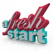 A Fresh Start - 3D Words — Stock Photo
