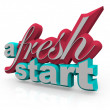 A Fresh Start - 3D Words - Stock Photo