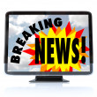 Breaking News - High Definition Television HDTV — Stockfoto #4603170