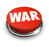 War - Word on Round Red Button — Stock Photo