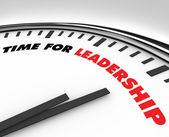 Time for Leadership - Clock — Stock Photo