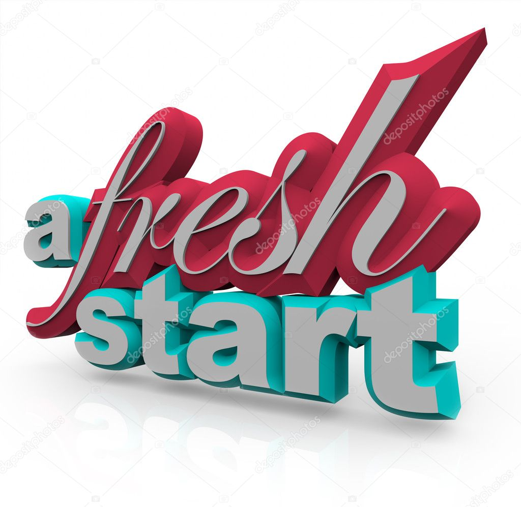 The words A Fresh Start in 3D on a white background — Stock Photo #4603139