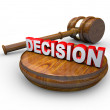 Decision - Judge Gavel and Word — Stock Photo