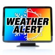 Stock Photo: Weather Alert - High Definition Television HDTV