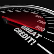 Great Credit Scores - Numbers on Speedometer — Stock Photo #4925288