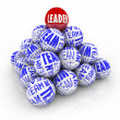 Royalty-Free Stock Photo: Leader and Team - Balls Forming Pyramid