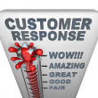 Stock Photo: Thermometer - Customer Response