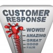 Thermometer - Customer Response - Stock Photo