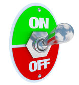 On and Off - Toggle Switch — Stock Photo