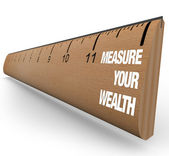 Ruler - Measure Your Wealth — Stock Photo