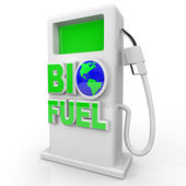 Biofuel - Green Gas Pump Station — Stock Photo